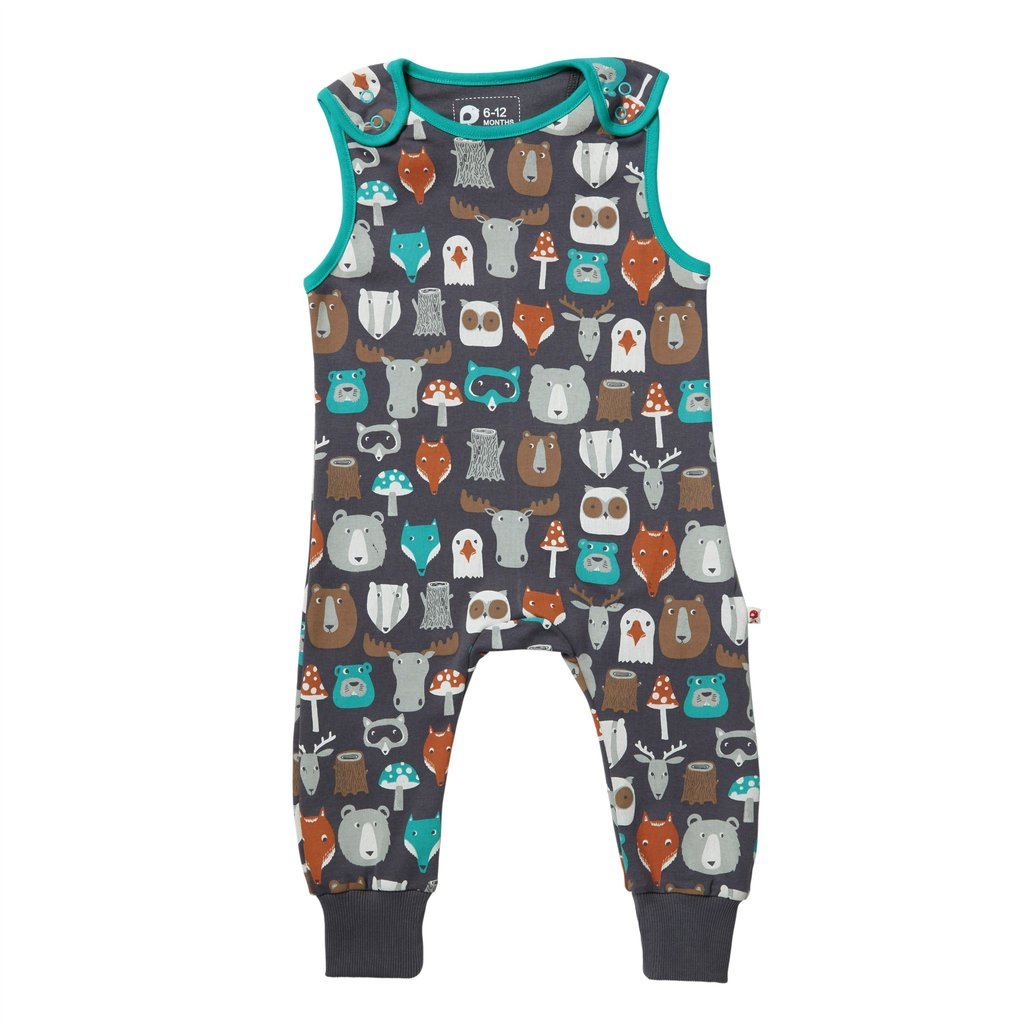 Dungarees – Forest Friends – Organic Cotton Clothing