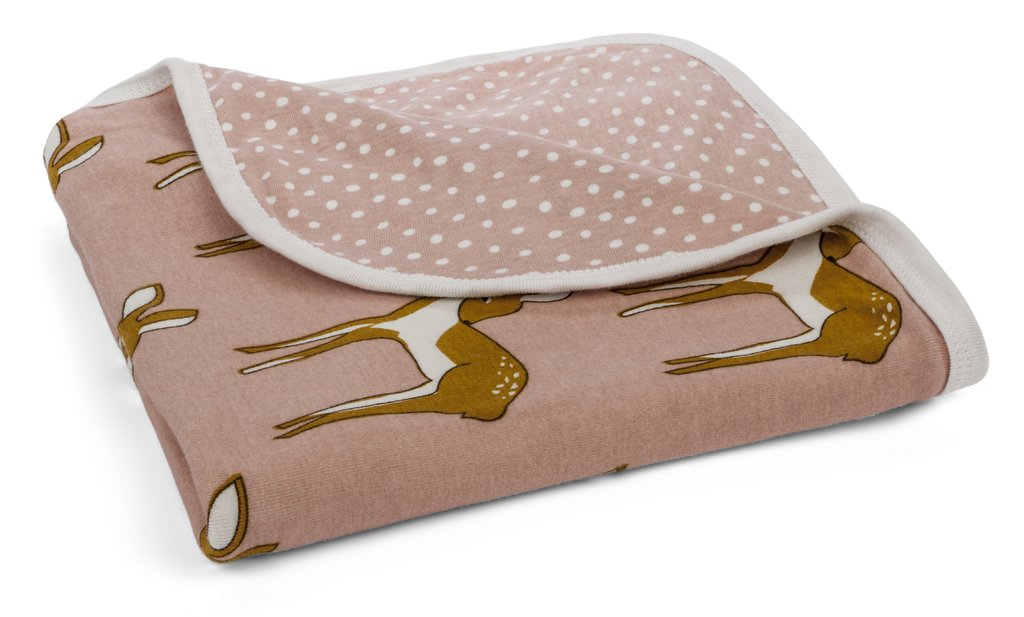 Organic Cotton Stroller Blanket – Rose Doe