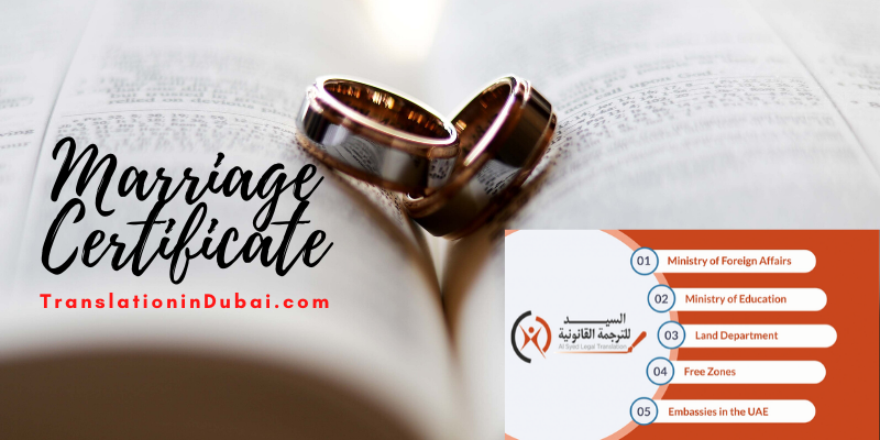 Marriage Certificates – Legal Translator in Dubai